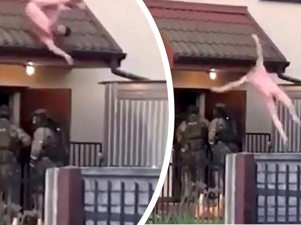 Blitz della polizia, il malvivente fugge nudo dalla finestra: ecco come si conclude la vicenda