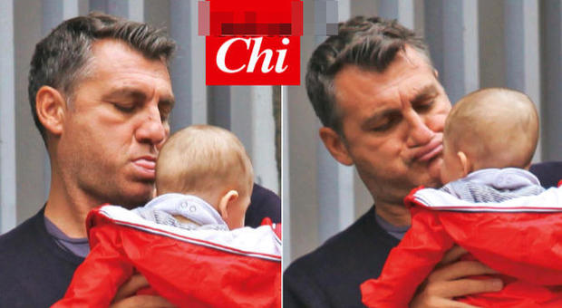Bobo Vieri e le gioie della paternità: smorfie e coccole alla piccola Stella