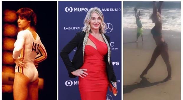 Nadia Comaneci è ancora in formissima: ruota perfetta in spiaggia, 43 anni dopo lo storico «10»