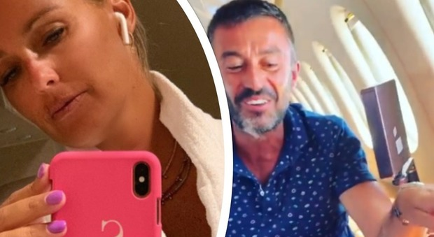 Sonia Bruganelli, in viaggio sul jet privato con l'amico. I fan notano un particolare: «Povero Paolo Bonolis...»