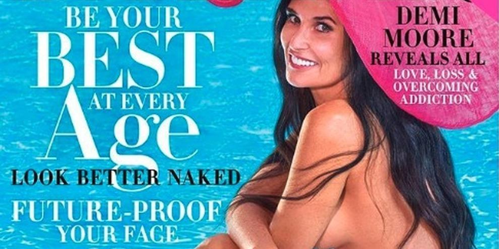 Demi Moore nuda in copertina a 56 anni. «Stuprata a 15 anni, salvai mamma dal suicidio»