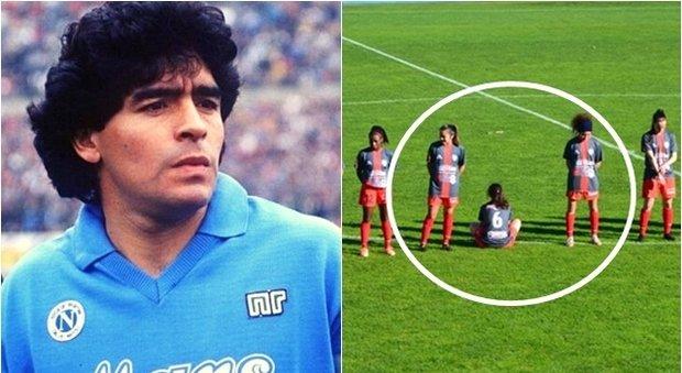 Maradona, calciatrice rifiuta il minuto di silenzio: «Era uno stupratore»