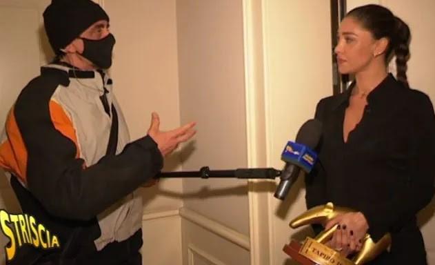 Belen Rodriguez, trentesimo Tapiro d'oro per la festa senza mascherine: «Ecco cos'è sucesso»