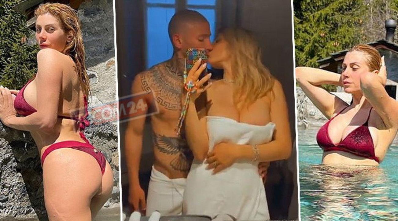 Paola Caruso bollente alle terme di Bormio per il compleanno del fidanzato