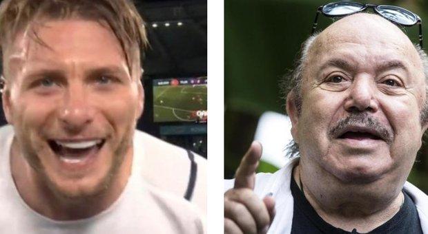 """Lino Banfi: «""""Porca pu**ena"""" lo slogan di Euro 2020. Immobile e Insigne mi hanno commosso. A Mancini ho svelato il segreto del 5-5-5»"""