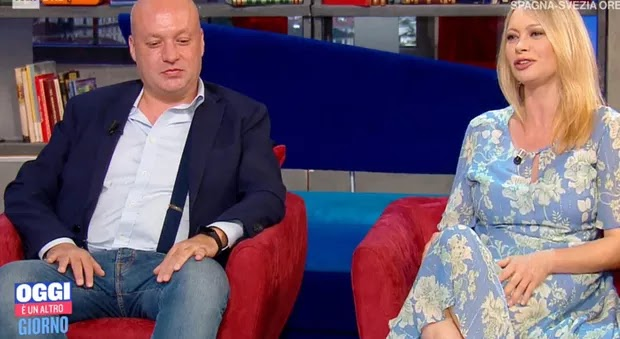 Anna Falchi e il fratello Sauro a