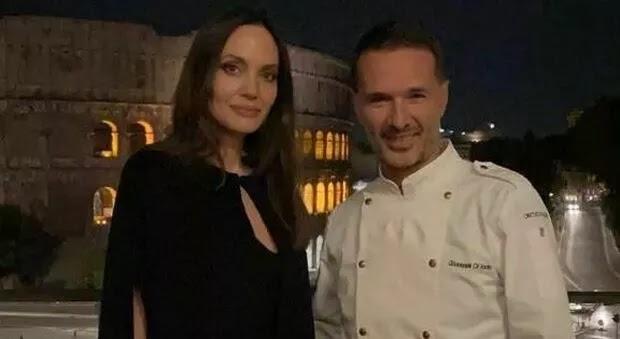 Angelina Jolie a Roma, cena con vista Colosseo al ristorante stellato: «Ecco il suo menu»