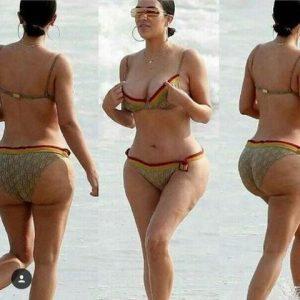 Kim Kardashian, la cellulite sul la to b non piace ai fan. fuga di 100 mila followers dai social