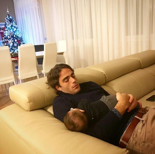 Alessandro Matri, a nanna con papà