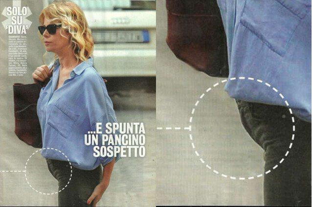 Alessia Marcuzzi, pancino sospetto nella vacanze con la famiglia allargata