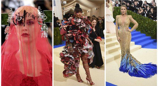 Met Gala 2017, da Rihanna a Katy Perry: ecco gli abiti più stravaganti sul red carpet