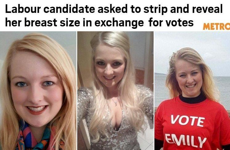 Emily si candida alle elezioni, gli elettori: Ti votiamo se le fai vedere