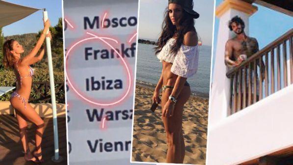 Belen, De Martino e D?Amario: tutti appassionatamente a Ibiza