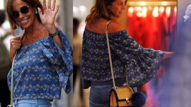 Cristina Parodi, shopping in Montenapoleone