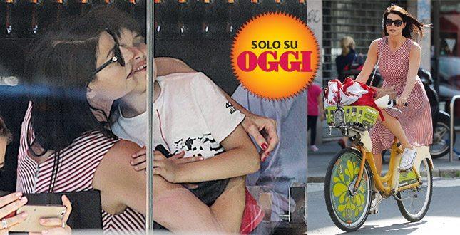 Ilaria D'Amico bellezza in bicicletta per il suo grande amore… Pietro