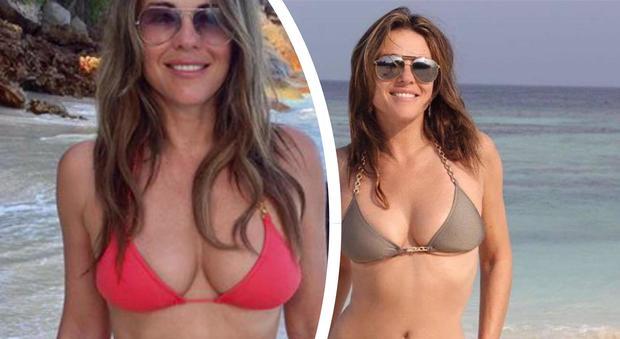 Liz Hurley, 52 anni e un fisico da far invidia alle ventenni