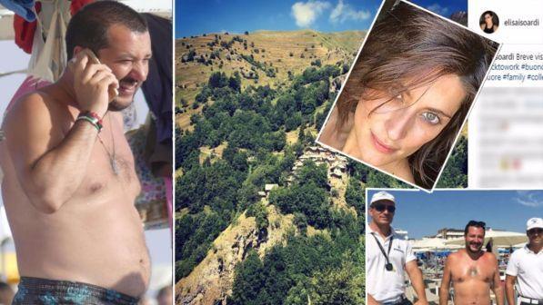 Matteo Salvini al mare ed Elisa Isoardi in montagna, ma l?amore continua