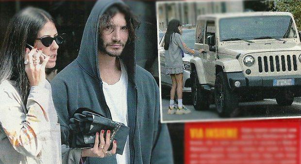 Stefano De Martino, passeggiata con Gilda Ambrosio e parcheggio sul marciapiede