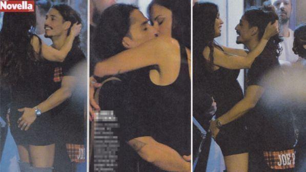 Antonella Mosetti, baci e toccatine hot con il suo toy boy