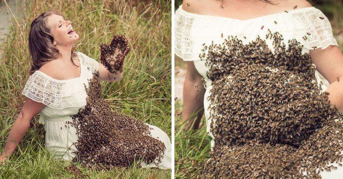 Diventa famosa per lo scatto con 20 mila api sul suo pancione, il bimbo nasce morto
