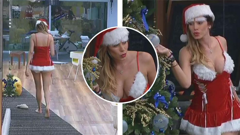 Aida Yespica supersexy in versione 'Babbo Natale' al Gf Vip