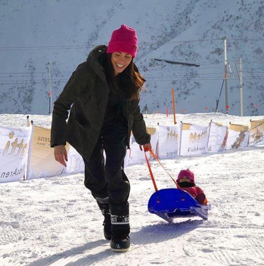 Federica Nargi, vacanza sulla neve con Matri e Sofia