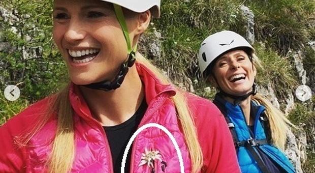 Michelle Hunziker, la foto in montagna fa arrabbiare i fan: «Meriterebbe una multa»