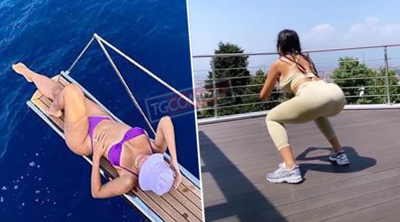 Georgina Rodriguez tra allenamento e relax in bikini
