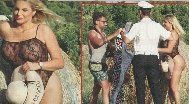 Francesca Cipriani si spoglia per il calendario sexy… Ma arriva il vigile e la manda via