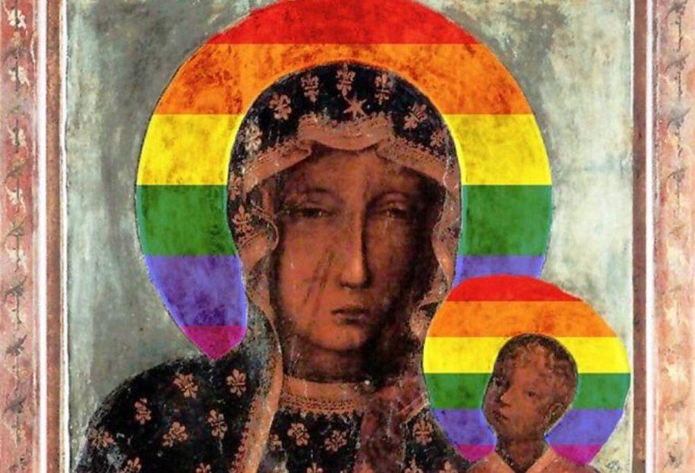Rainbow Mary con l'aureola arcobaleno no?