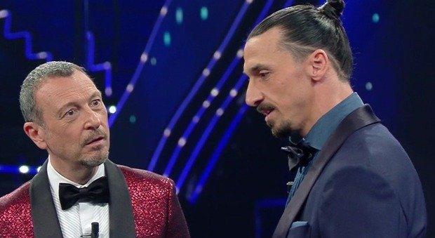 Zlatan Ibrahimovic, il campione non si presenta all'Ariston. Amadeus: «C'è stato un problema». Poi accade l'incredibile