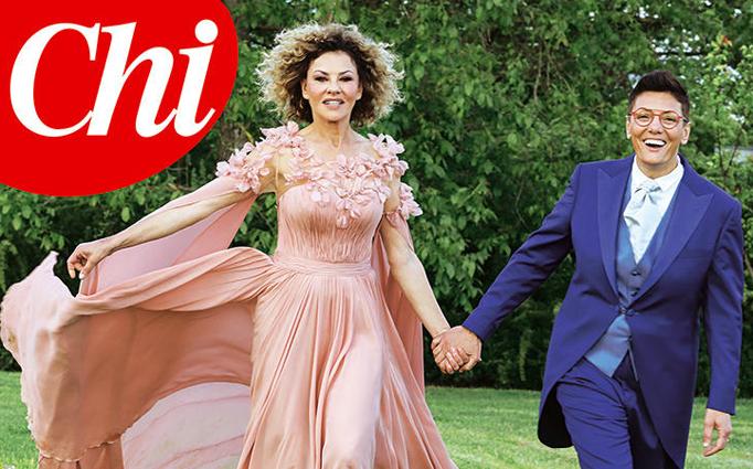 Eva Grimaldi e Imma Battaglia si sono sposate: le foto dall'album del matrimonio