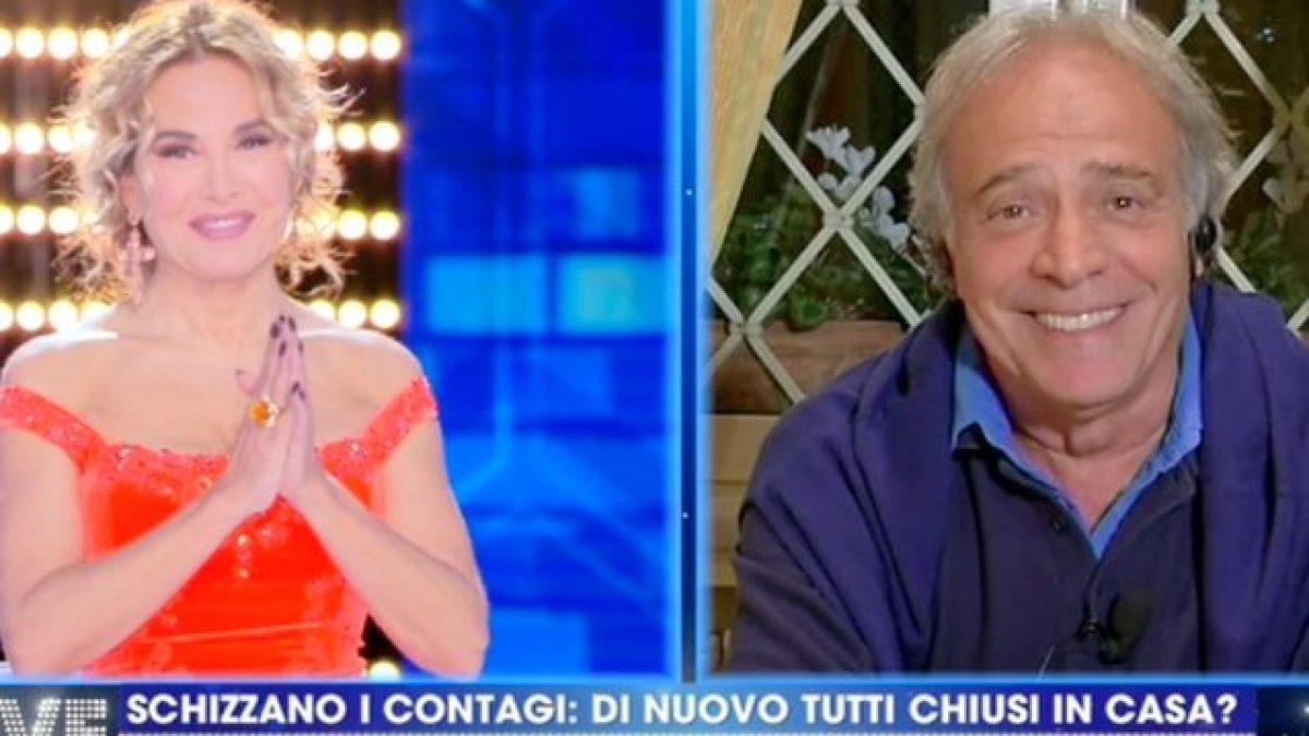 Enrico Montesano, la sua rabbia a Non è la D'Urso:«Mi hanno teso un tranello solo perchè non la penso come gli altri»