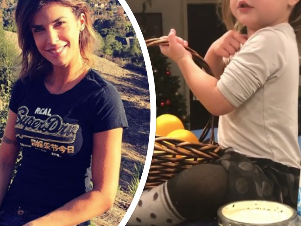 Elisabetta Canalis e il primo video della figlia Skyler, la bimba che parla italiano con l'accento inglese intenerisce il web
