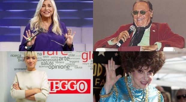Domenica In, Renzo Arbore, Gina Lollobrigida e Elodie ospiti di Mara Venier