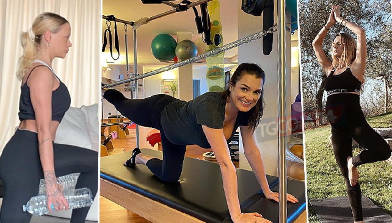 """""""Non molliamo!"""": da Alena Seredova a Silvia Provvedi, le vip si allenano... anche col pancione"""