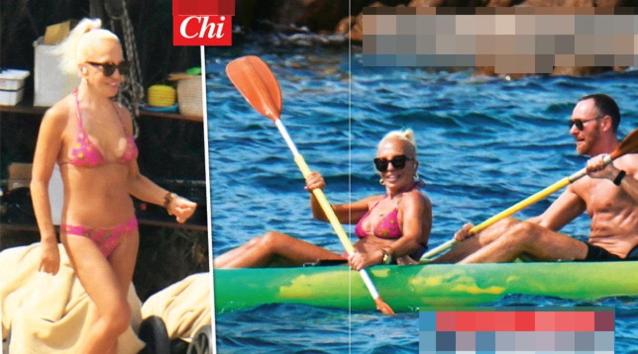 Per Donatella Versace relax di lusso tra le onde in Sardegna