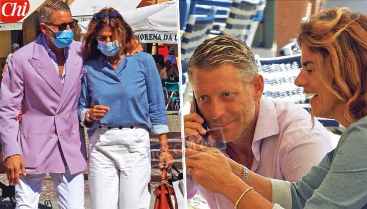 Lapo Elkann a Portofino con Joana: