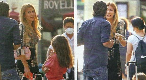 Adriana Volpe e il marito Roberto Parli, lite in strada il primo giorno di scuola di Gisele
