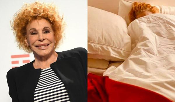 Ornella Vanoni positiva al Covid, la foto a letto: «Mi ha presa»