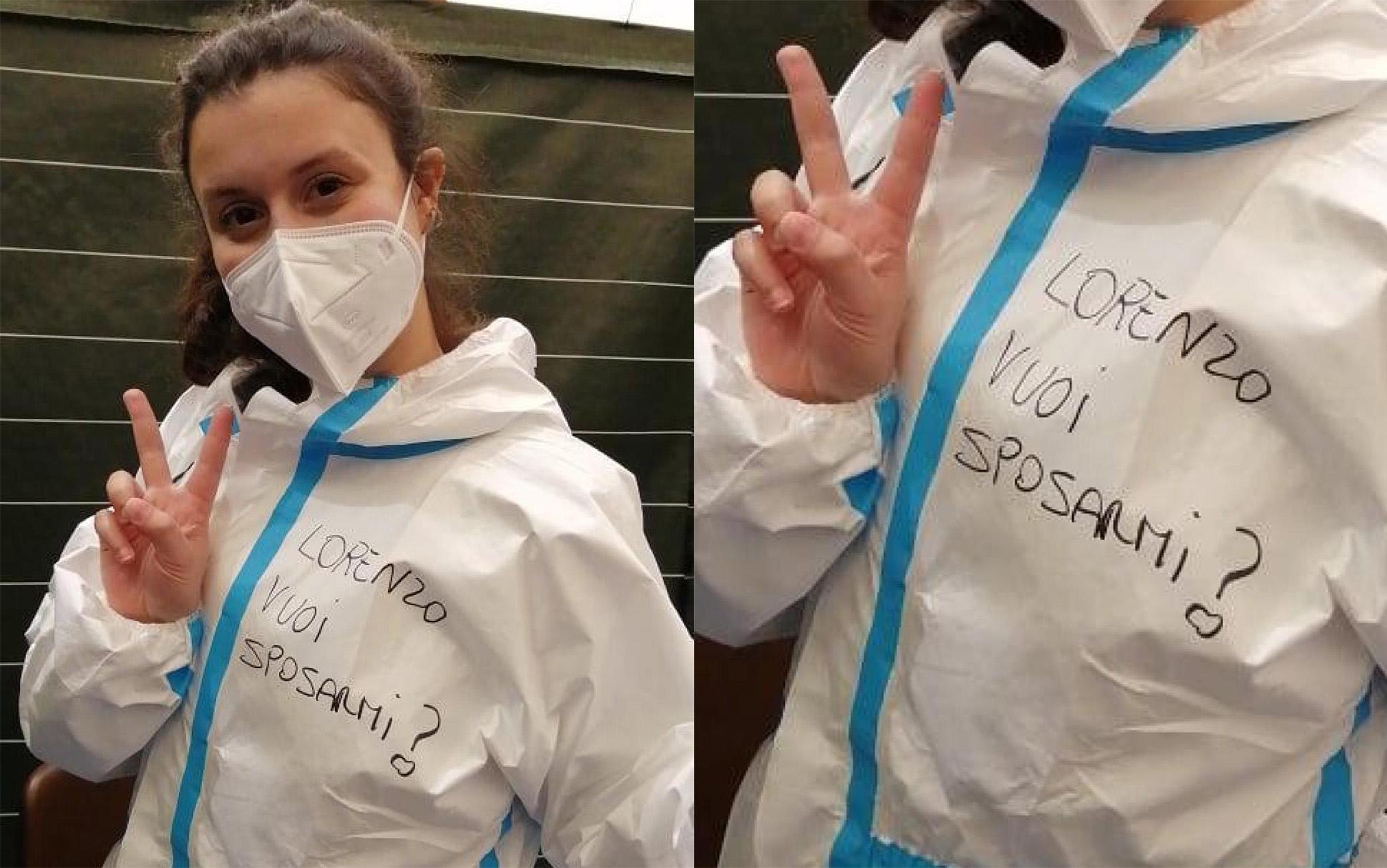 Varese, infermiera scrive proposta di matrimonio sul camice