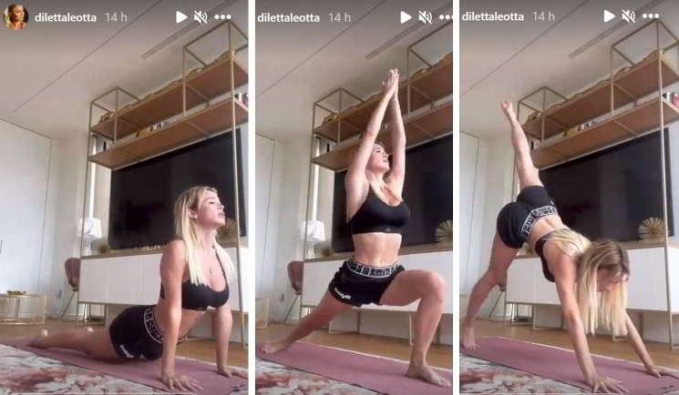 Diletta Leotta e la ginnastica da camera, che bomba sexy