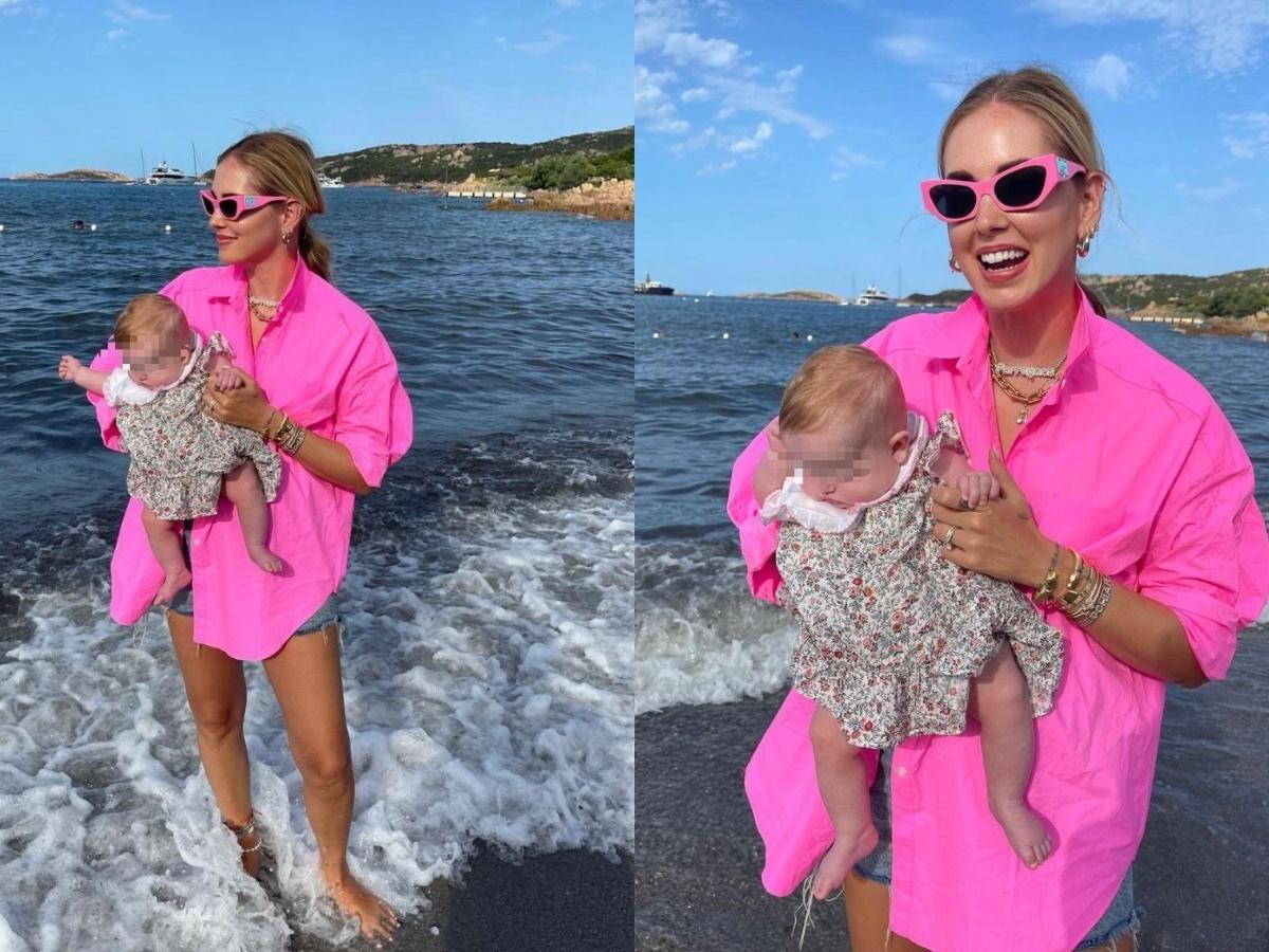 Chiara Ferragni, la prima foto di Vittoria in spiaggia in Sardegna. Un dettaglio fa infuriare i fan: «Non è possibile...»