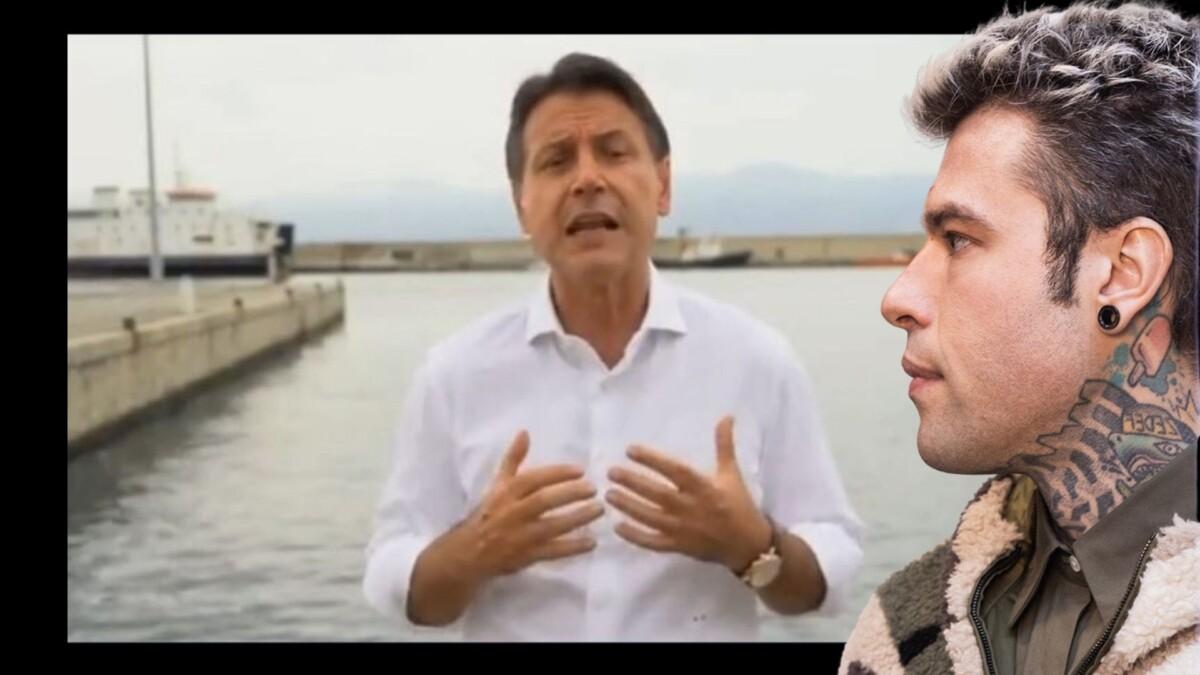 Conte, bagno di folla in Calabria. Fedez furioso: «I concerti sono vietati, i comizi no». Lui reagisce così