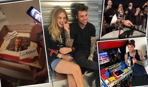 Fedez, una festa tutta social con Chiara Ferragni e Fabio Rovazzi