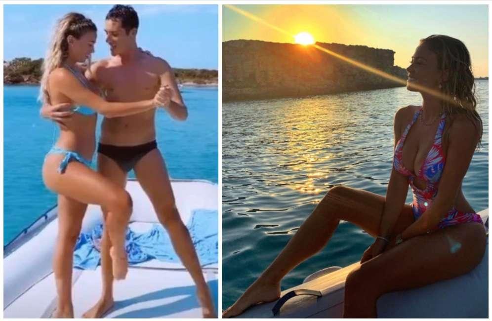 Diletta Leotta, il sexy tango infuocato con l'amico misterioso in bikini mozzafiato