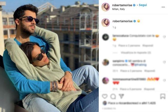 Roberta Morise innamorata: eccola con Giulio Fratini, l'ex di Raffaella Fico