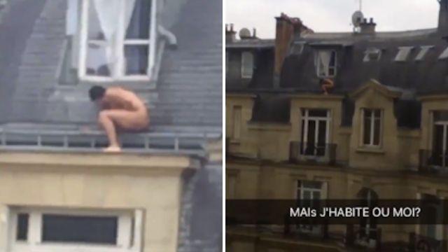 Amante scappa nudo dalla finestra.