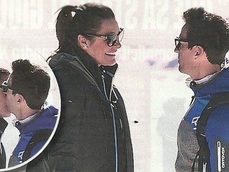 Alena Seredova, luna di miele sulla neve con il fidanzato e i figli