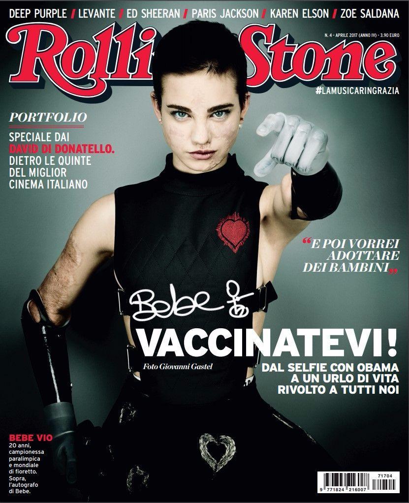 """Bebe Vio sulla copertina di Rolling Stone: """"Vaccinatevi!"""""""